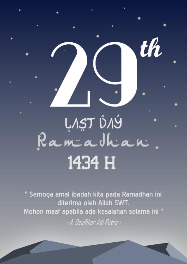 Hari Terakhir Ramadhan 1434 H